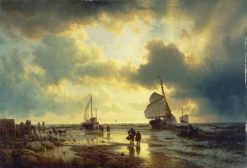 The Ebb Tide | Andreas Achenbach | Oil Painting