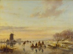 Winter in Holland | Andreas Schelfhout | Oil Painting