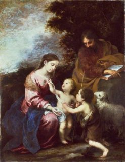 The Holy Family with the Infant Baptist | BartolomE Esteban Murillo | Oil Painting