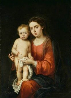 The Virgin and Child with a Rosary | BartolomE Esteban Murillo | Oil Painting
