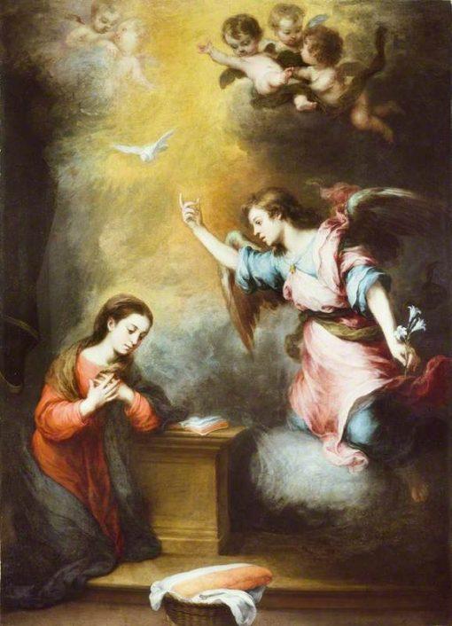 The Annunciation | BartolomE Esteban Murillo | Oil Painting