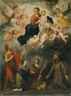 The Virgin and Child with Saints | BartolomE Esteban Murillo | Oil Painting