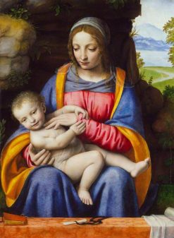 The Virgin and Child in a Landscape | Bernardino Luini | Oil Painting