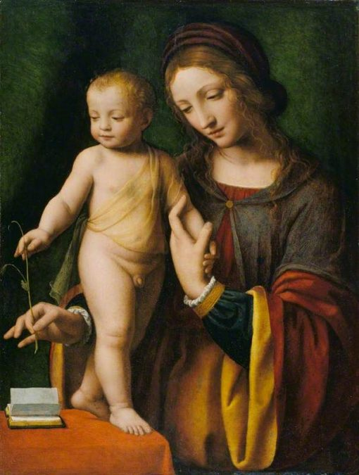The Virgin and Child with a Columbine | Bernardino Luini | Oil Painting
