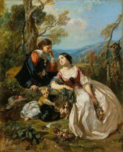 A Sentimental Conversation | Camille Joseph Etienne Roqueplan | Oil Painting