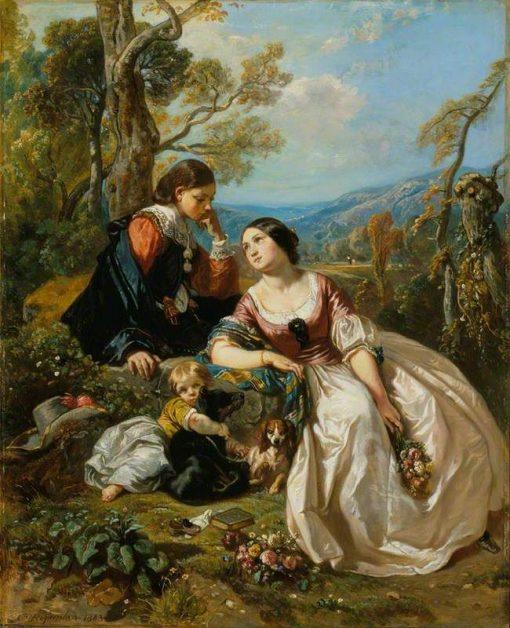 A Sentimental Conversation   Camille Joseph Etienne Roqueplan   Oil Painting