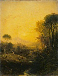 Italian Landscape: Evening | Camille Joseph Etienne Roqueplan | Oil Painting