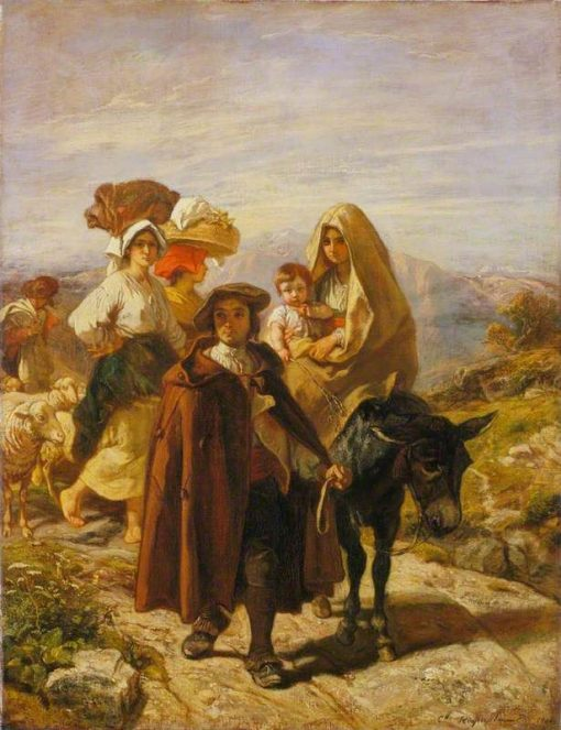 Peasants of Béarn   Camille Joseph Etienne Roqueplan   Oil Painting