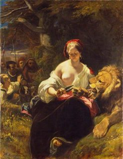 The Lion in Love | Camille Joseph Etienne Roqueplan | Oil Painting