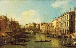 The Grand Canal from the Palazzo Dolfin | Canaletto | Oil Painting