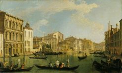 The Grand Canal from the Palazzo Flangini | Canaletto | Oil Painting