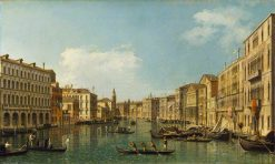 The Grand Canale from the Palazzo Foscari | Canaletto | Oil Painting