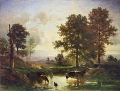 Watering Cattle | Constant Troyon | Oil Painting