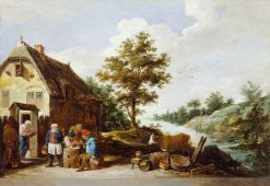 A Riverside Inn | David Teniers II | Oil Painting