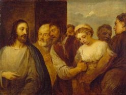 The Woman Taken in Adultery (after Titian)   David Teniers II   Oil Painting