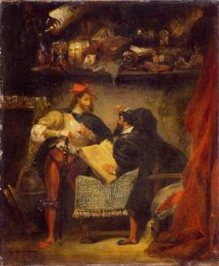 Faust and Mephistopheles | Eugene Delacroix | Oil Painting