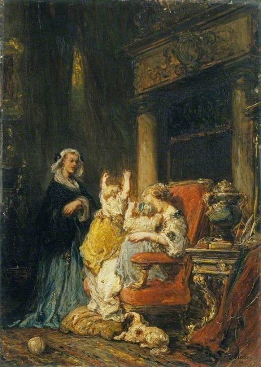 The Young Mother   Eugene Isabey   Oil Painting