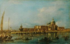 Venice: the Dogana with Santa Maria della Salute | Francesco Guardi | Oil Painting