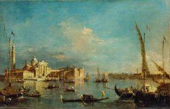 Venice: San Giorgio Maggiore with the Giudecca   Francesco Guardi   Oil Painting