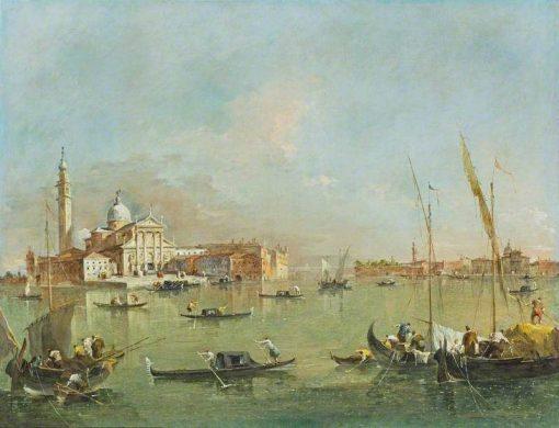 Venice: San Giorgio Maggiore with the Giudecca and the Zitelle | Francesco Guardi | Oil Painting