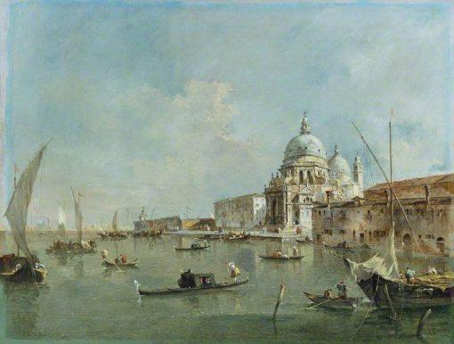 Venice: Santa Maria della Salute and the Dogana   Francesco Guardi   Oil Painting