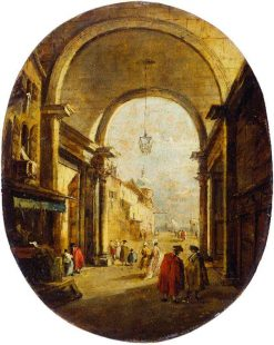 Capriccio with the Archway of the Torre dell'Orologio | Francesco Guardi | Oil Painting