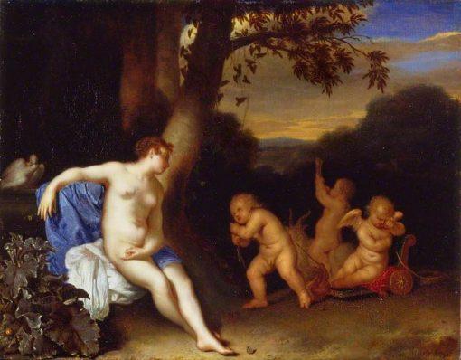 Venus and Cupid | Frans van Mieris the Elder | Oil Painting