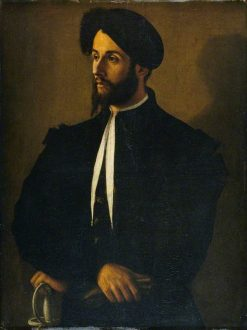 Portrait of a Man in Black | Italian School th Century   Unknown | Oil Painting