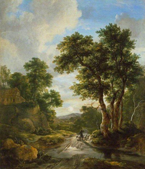 Sunrise in a Wood | Jacob van Ruisdael | Oil Painting