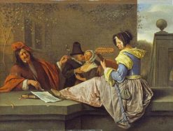 The Lute Player | Jan Havicksz. Steen | Oil Painting