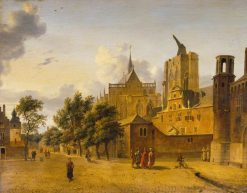 A Street Scene in Cologne | Jan van der Heyden | Oil Painting