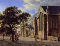 Exterior of a Church | Jan van der Heyden | Oil Painting