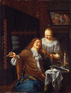 Lady and Cavalier | Jan van Mieris | Oil Painting