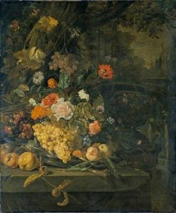 Flowers and Fruit | Jan Weenix | Oil Painting