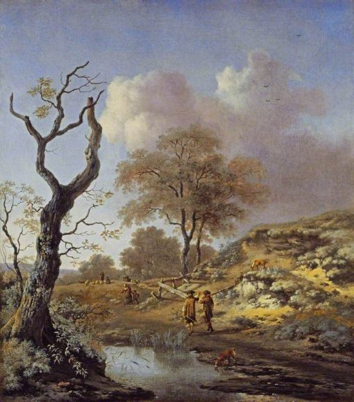 A Hilly Landscape | Jan Wijnants | Oil Painting