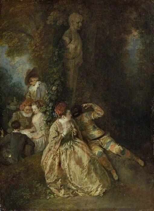 Voulez-vous Triompher des Belles   Jean Antoine Watteau   Oil Painting