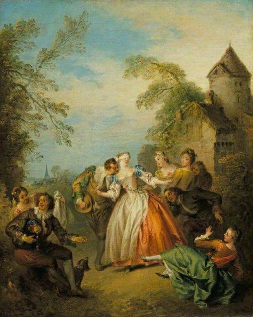 Blind Man's Buff | Jean Baptiste Pater | Oil Painting