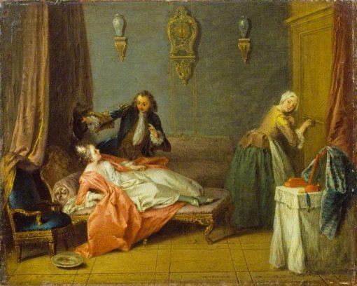 The Boudoir   Jean Baptiste Pater   Oil Painting