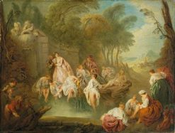 Bathing Party in a Park | Jean Baptiste Pater | Oil Painting