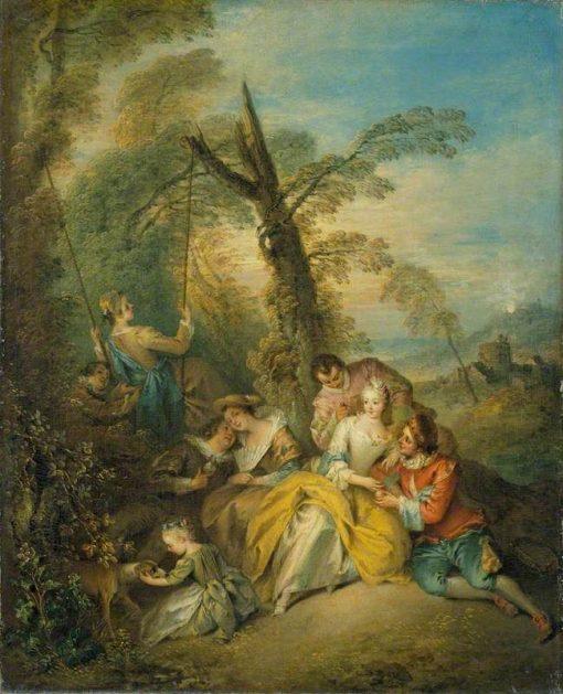 The Swing (La conversation interessant) | Jean Baptiste Pater | Oil Painting