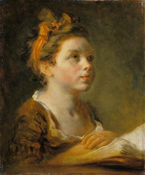 A Young Scholar | Jean HonorE Fragonard | Oil Painting