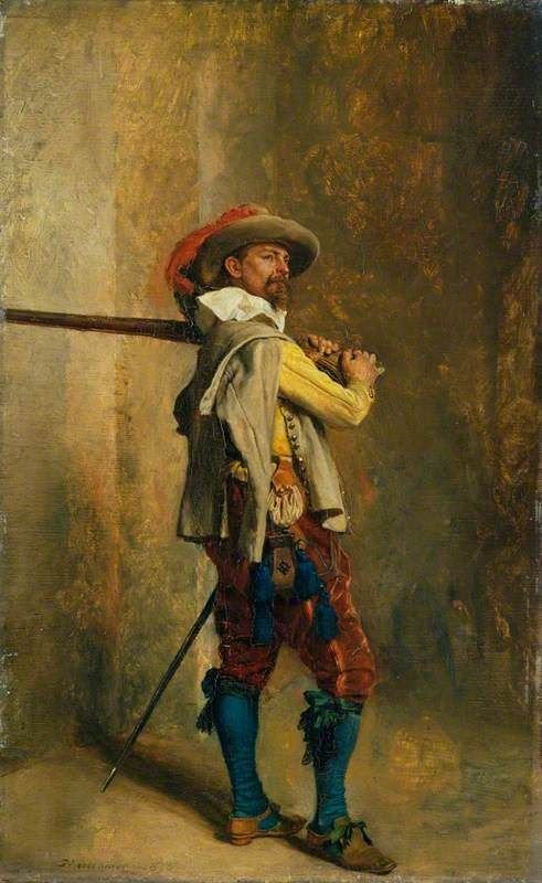 A Musketeer: Time of Louis XIII | Jean Louis Ernest Meissonier | Oil Painting
