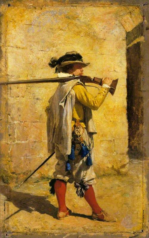A Sentinel: Time of Louis XIII   Jean Louis Ernest Meissonier   Oil Painting