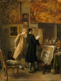 An Artist Showing His Work | Jean Louis Ernest Meissonier | Oil Painting