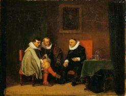 Dutch Burghers   Jean Louis Ernest Meissonier   Oil Painting