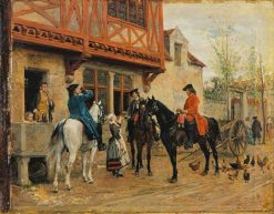 Halt at an Inn | Jean Louis Ernest Meissonier | Oil Painting