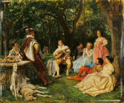 The Recital | Jean Louis Ernest Meissonier | Oil Painting