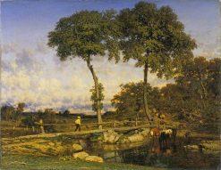 Crossing the Bridge | Jules DuprE | Oil Painting