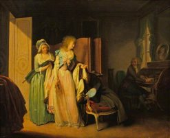 The Visit Returned   Louis LEopold Boilly   Oil Painting