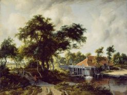 A Watermill | Meindert Hobbema | Oil Painting